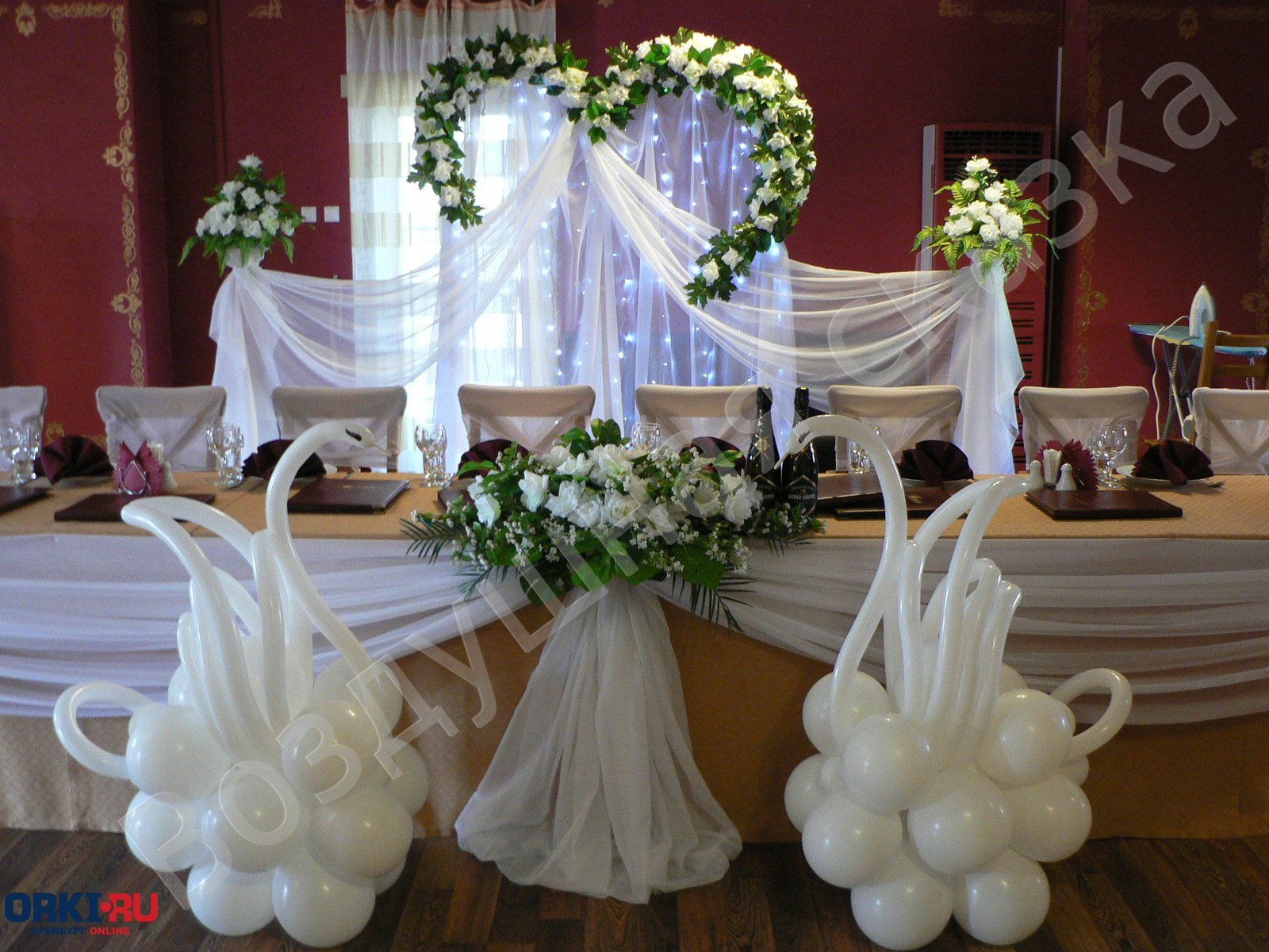 Свадьба шары цветы фото